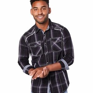 BKE Standard Fit Button Down Shirt, Size Large